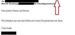 Gefälschte E-Mails im Namen der GfA